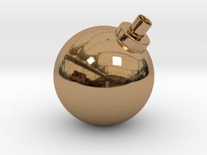 Bomb Vase in Polished Brass