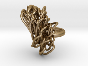Golden-Daisy (size 8) in Polished Gold Steel