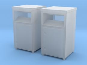 TJ-H01120x2 - Bennes à textile in Smooth Fine Detail Plastic