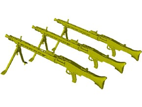 1/10 scale WWII Wehrmacht MG-42 machineguns x 3 in Smooth Fine Detail Plastic