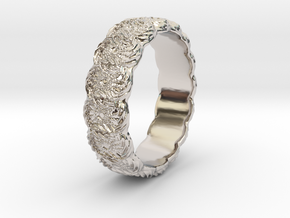 Daisy - Ring in Rhodium Plated Brass: 6 / 51.5