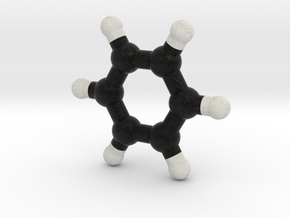 Benzene molecule model. 3 Sizes. in Full Color Sandstone: 1:10