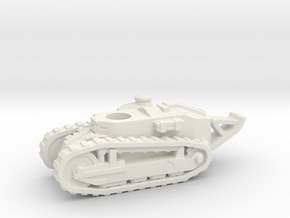 Renault FT tank (French) 1/144 in White Natural Versatile Plastic