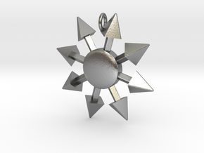 Chaos Star without engraving in Natural Silver