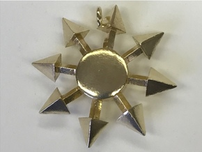 Chaos Star without engraving in Natural Brass