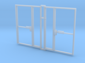 Single Office Door 1:35 x 2 in Smooth Fine Detail Plastic