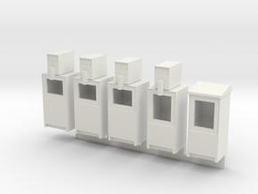 Newspaper Boxes in 1:35 scale in White Natural Versatile Plastic