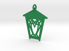 Owl Lantern Ornament in Green Strong & Flexible Polished