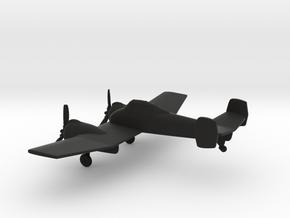 Grumman XF5F Skyrocket in Black Natural Versatile Plastic: 1:144