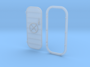 1/32 USN Door Watertight Wheeled w. frame Left in Smooth Fine Detail Plastic