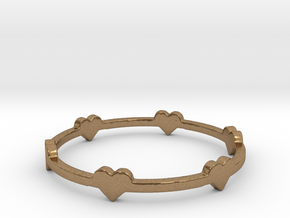 Hearts Ring in Natural Brass: 8 / 56.75
