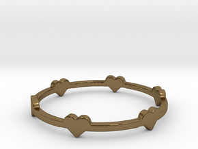 Hearts Ring in Polished Bronze: 8 / 56.75
