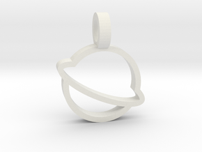 Saturn Pendant in White Natural Versatile Plastic