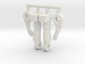 Spike Diaclone Inchman, Limbs in White Strong & Flexible