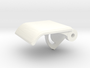 Rear Seat Release Handle in White Processed Versatile Plastic