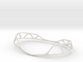 Seed Of Life belt in White Natural Versatile Plastic