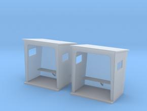 TJ-H01131x2 - Abribus beton, petits in Smooth Fine Detail Plastic