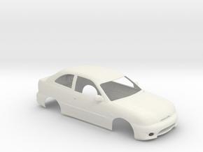 124 Excel Basic Body in White Natural Versatile Plastic