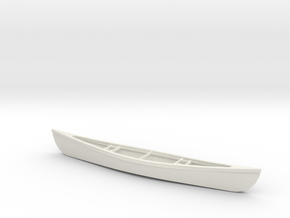 1/24 Scale 18 Ft Canoe in White Strong & Flexible