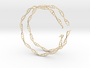 "Double Helix 75 mm (3"") Hoops in 14k Gold Plated Brass"