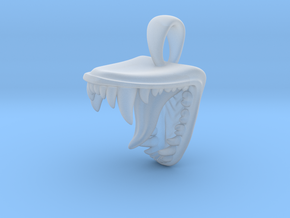 Maw Pendant in Smooth Fine Detail Plastic