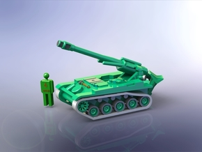 French AMX 13 F3 155mm SPG 1/200 in Smooth Fine Detail Plastic