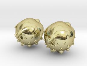 Blowfish Earrings  in 18k Gold Plated Brass
