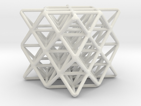 64 sided tetrahedron grid in White Natural Versatile Plastic
