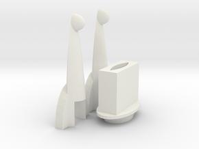 Trunks Sword Crossguard  in White Natural Versatile Plastic
