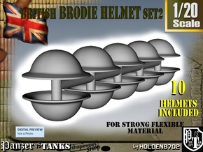 1-20 Brodie Helmet Set2 in White Natural Versatile Plastic