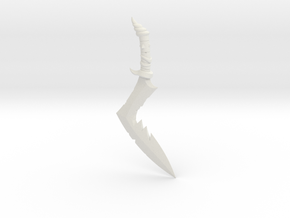 BotW Lizal Boomerang in White Natural Versatile Plastic: 1:12