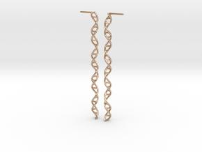"""Double Helix 73 mm (2.9"""") Earrings in 14k Rose Gold"""