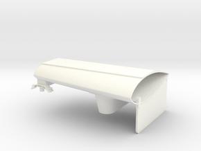 1.7 SPOILER ARMEMENT HUGHES Droit in White Processed Versatile Plastic