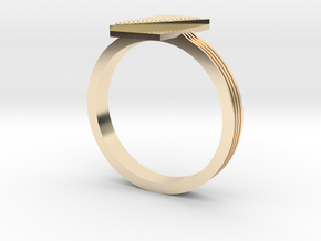 Fashion ring in 14k Gold Plated Brass: 9.5 / 60.25