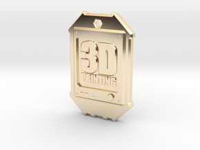Dogtag 3D-Printing in 14K Yellow Gold