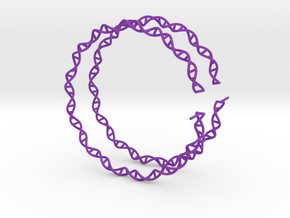 "Double Helix 75 mm (3"") Hoops - curly in Purple Processed Versatile Plastic"