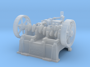 """HO - S  Maxwell Horizontal 10"""" Twin Steam Engine in Smooth Fine Detail Plastic"""