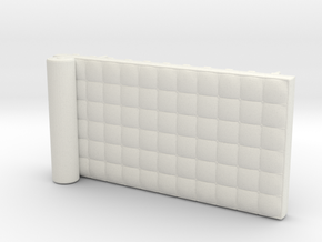 Miniature Barcelona Daybed Couch - Ludwig Van Der  in White Natural Versatile Plastic: 1:12