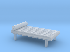Miniature Barcelona Daybed Couch - Ludwig Van Der  in Smooth Fine Detail Plastic: 1:48 - O