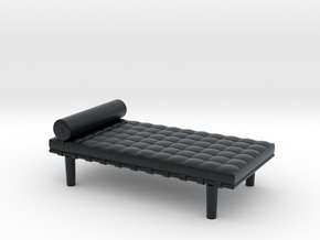Miniature Barcelona Daybed Couch - Ludwig Van Der  in Black Hi-Def Acrylate: 1:48 - O