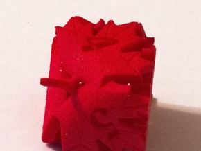 Leaf D6 in Red Processed Versatile Plastic