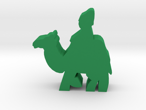 Game Piece, Ancient Camel Merchant in Green Processed Versatile Plastic