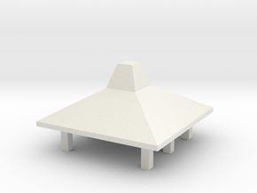 Kona Airport Hut - small in White Natural Versatile Plastic: 1:400