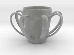 Coffee mug #4 XL - Many Handles in Metallic Plastic