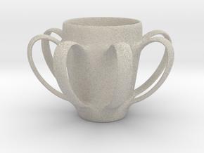 Coffee mug #4 XL - Many Handles in Natural Sandstone