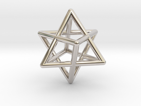 Merkaba pedant - medium in Platinum