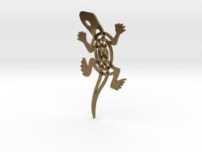 Celtic Lizard Pendant in Natural Bronze