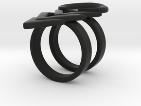Rune Ring in Black Natural Versatile Plastic: 6 / 51.5
