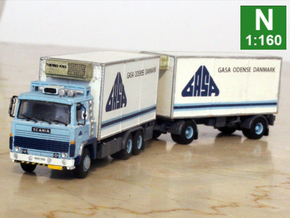 Scania 141 refrigerated lorry 1:160 scale in Smoothest Fine Detail Plastic