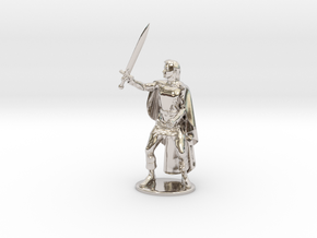 Belgarion Miniature in Rhodium Plated Brass: 1:55